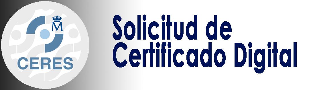 Solicitud de Certificado Digital