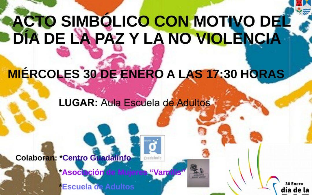 Acto simbólico con Motivo del día de la Paz y la No violencia