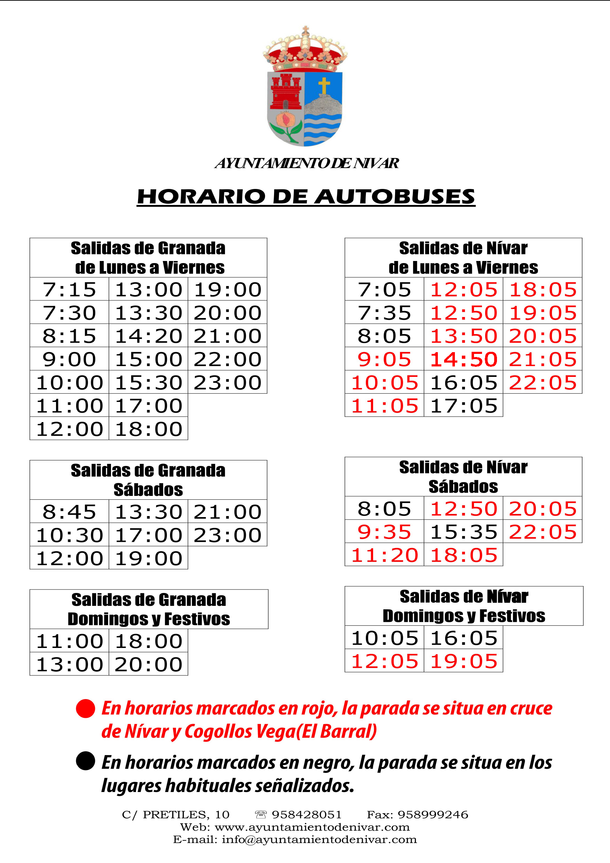 Horario de Autobus