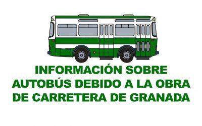Información sobre autobuses – Obra Carretera de Granada